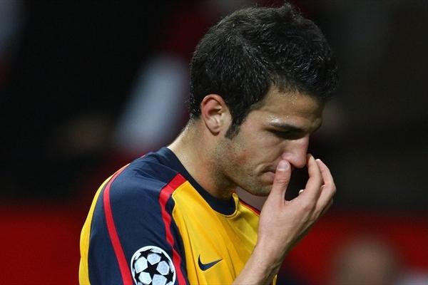 Cesc Fabregas simboliza la decepción de todo Arsenal